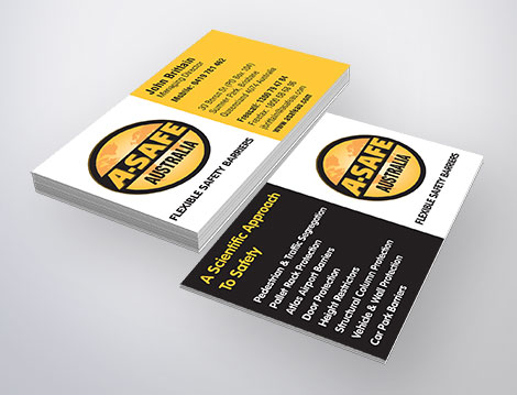 A-Safe Business Card designed by GGA GRAPHICS