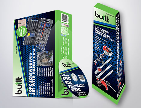 Built Packaging designed by GGA Graphics