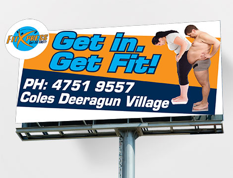 FitXpress Billboard designed by GGA Graphics