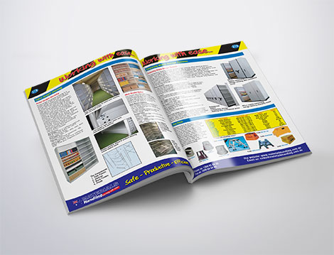 Materials Handling catalogue designed by GGA Graphics