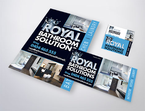 Royal Bathroom Solutions branding designed by GGA Graphics