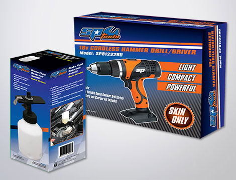 SP Tools Packaging designed by GGA Graphics