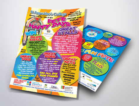 St Augustine's Fete flyers designed by GGA Graphics