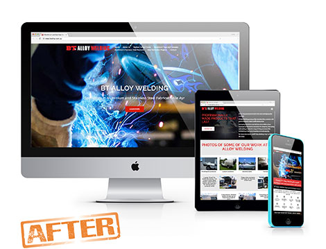 BT Alloy Welding website after