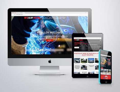 BT Alloy Welding website designed by GGA GRAPHICS