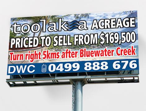 DWC Billboard designed by GGA Graphics