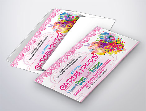 Invitations designed by GGA Graphics