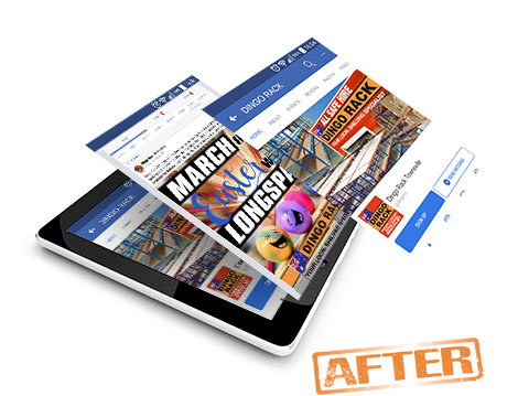 Dingo Rack facebook makeover designed by GGA Graphics