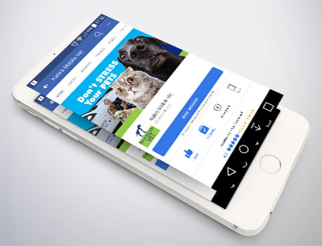 New look Kates Mobile Vet facebook cover by GGA Graphics