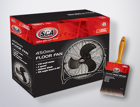 SCA packaging designed by GGA Graphics