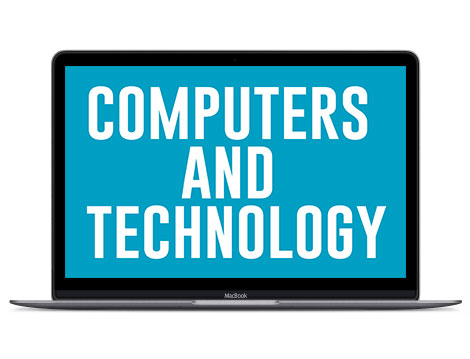 Turquoise in design represents computers and technology