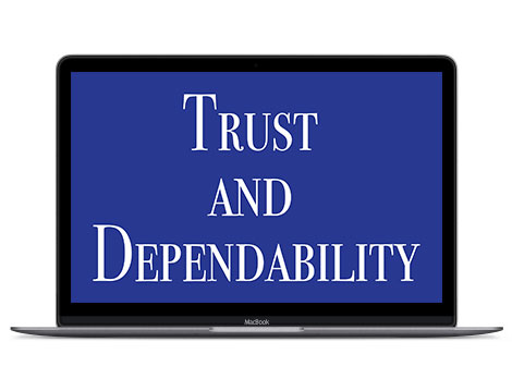 Blue in design represents trust and dependability