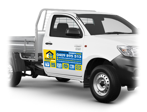 Burdekin Handyman Car Magnet designed by GGA Graphics