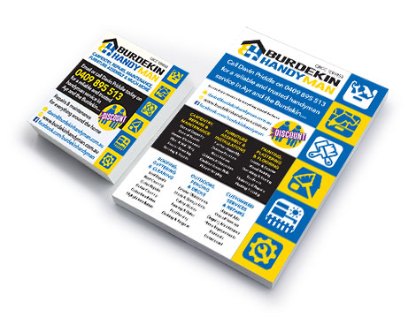 Burdekin Handyman Flyers designed by GGA Graphics