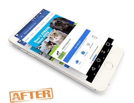kates Mobile Vet New Facebook image designed by GGA Graphics'