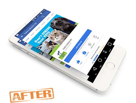 kates Mobile Vet New Facebook image designed by GGA Graphics'