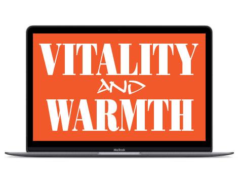 Orange in design represents vitality and warmth