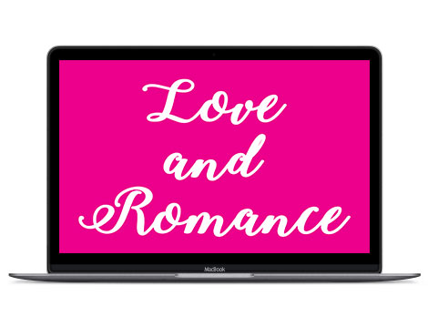 Pink in design represents love and romance