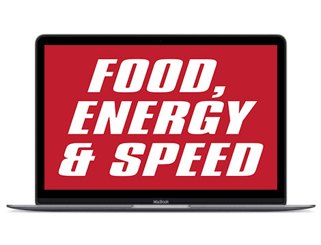 Red in design represents food, energy and speed