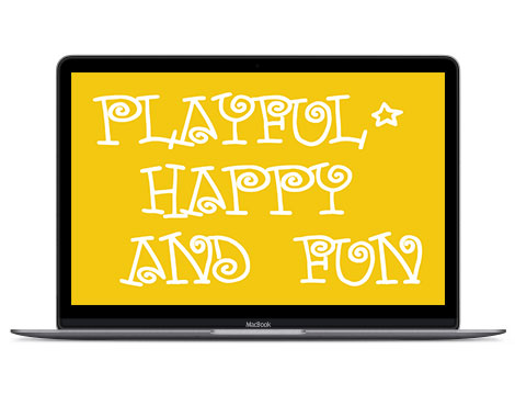 Yellow in design represents playful, happy and fun